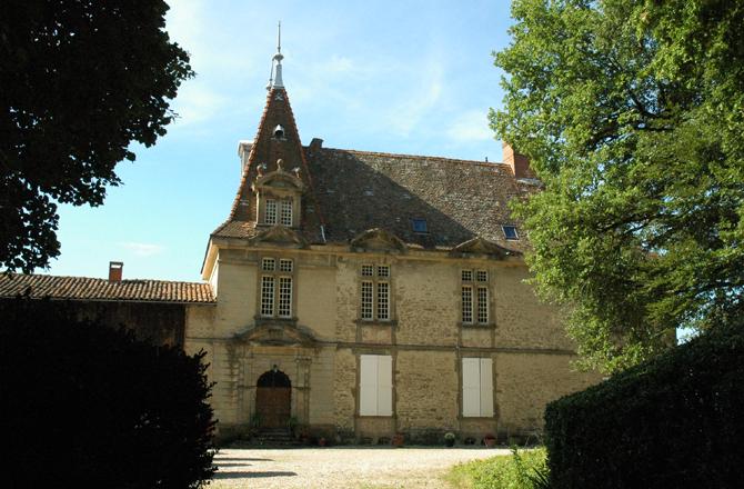Vue nord du château de Bresson