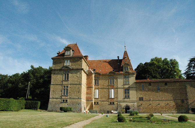 Vue sud du Château de Bresson