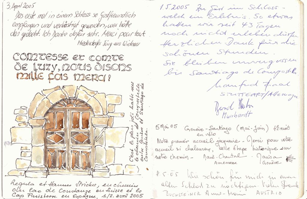 Livre d'or château de Bresson